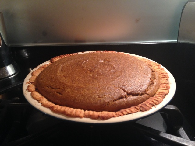 The pie will set more as it cools