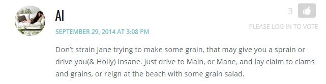 Al on 32 reasons grain
