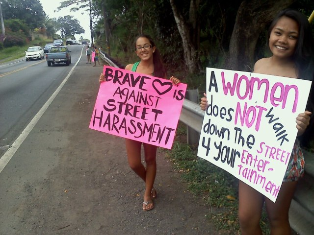 Activists in Hawaii fighting street harassment, via the Pixel Project