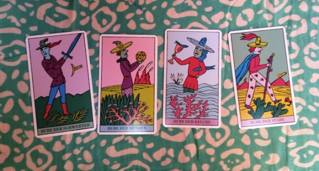 Pages, from the Kitty Kahane Tarot