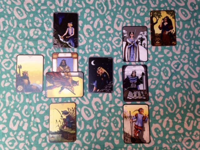 Cards are from the Anna K Tarot