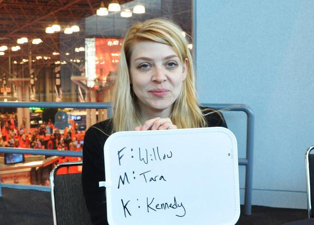 New York Comic Con 2014. Amber Benson. Buffy Willow Tara. Fuck Marry Kill.