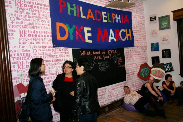 The Dyke March Exhibit at the William Way Center, Summer 2014 via Philly Dyke March