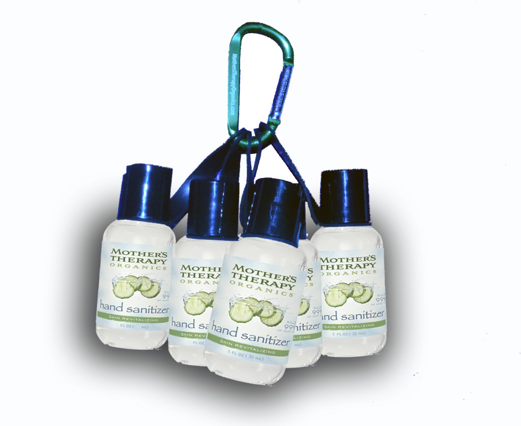 Mother's Therapy Organics Hand Sanitizer with Clip - 1 Oz. (Set of 3)