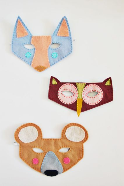 woodland creatures felt masks