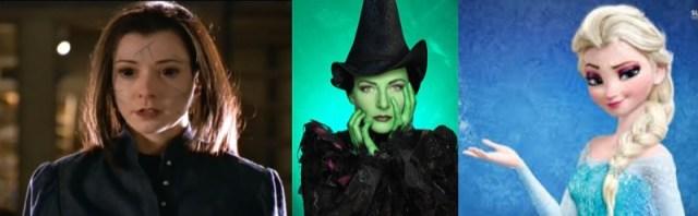 Willow, Elsa, Elphaba, Evil Disney Queens...