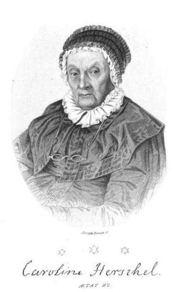 Caroline Herschel at age 92.