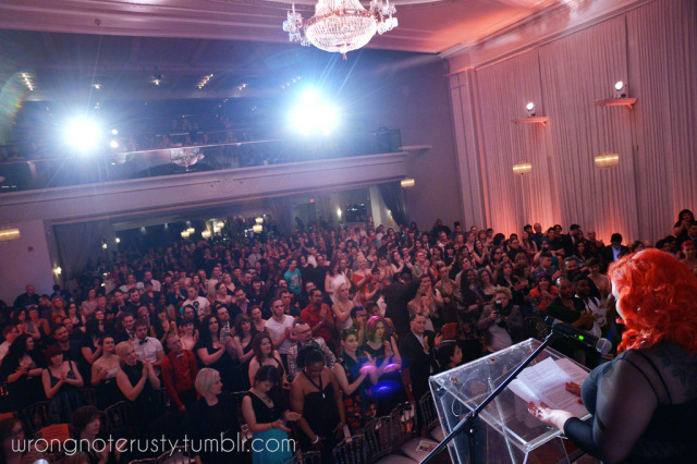 April Flores addressing the masses in April 2014