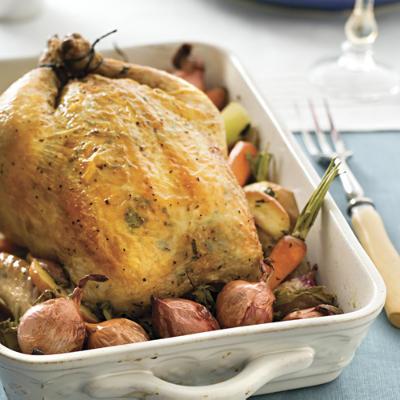 Garlic herb roasted chicken