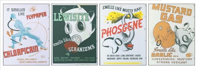 Poison gases in WWI. Via The History Press.