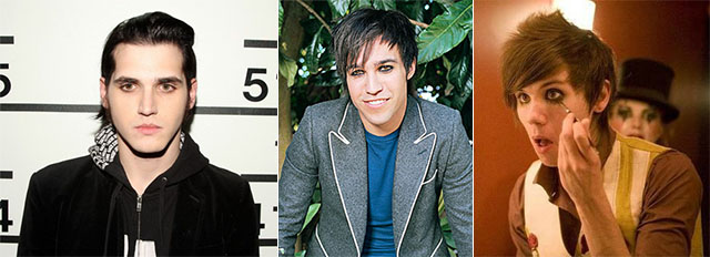 Mikey Way, Pete Wentz and Ryan Ross -or- all the boys I loved in 8th grade looked like lesbians.