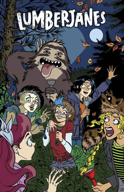 Lumberjanes #9 cover by Chynna Clugston. Is it just me, or does Jo totally look like Stef in this drawing?