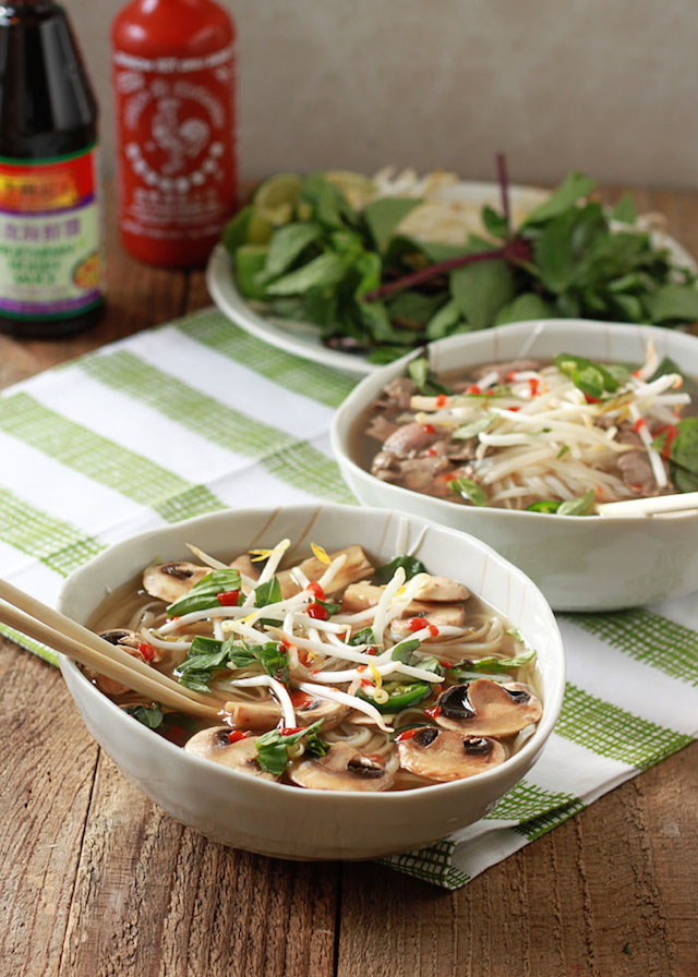 Vegetarian Pho (with Optional Beef)