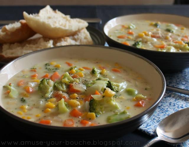 Veggie Pot Pie Soup