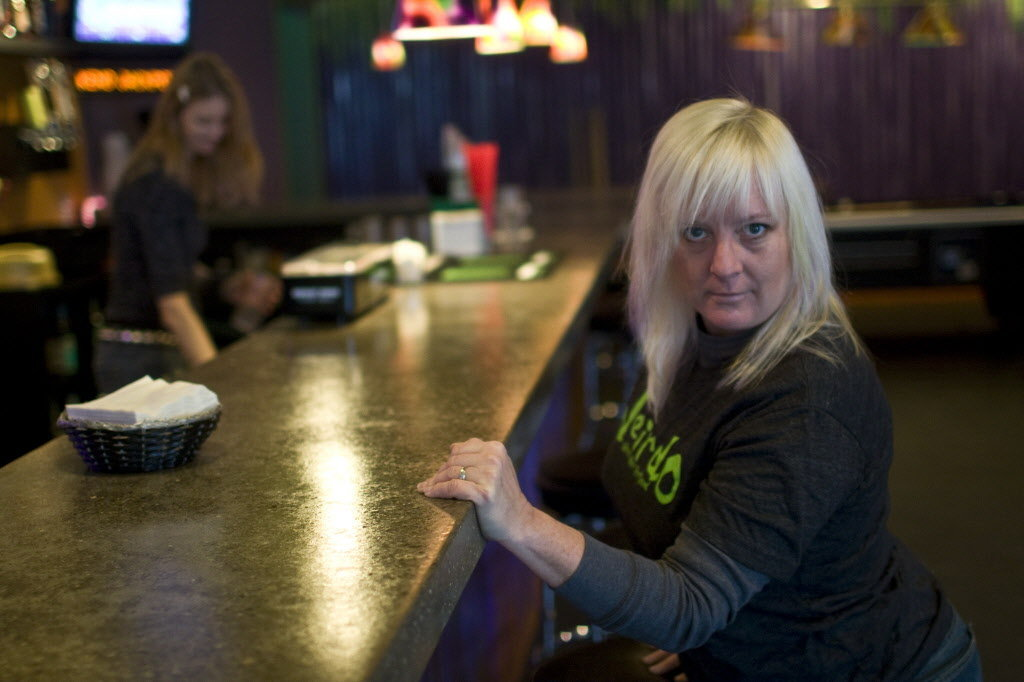 E Room owner Kim Davis. Photo by Jamie Francis / The Oregonian