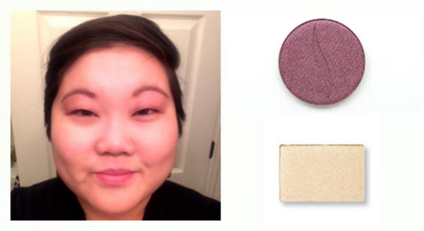 eyeshadow base glitter look