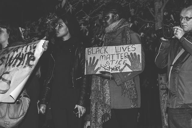 ferguson london protest