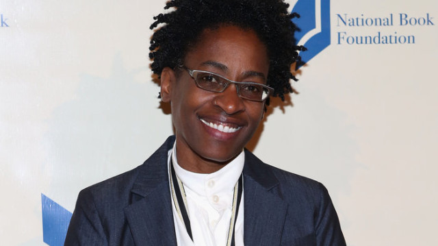 Jacqueline Woodson at the 2014 National Book Awards. Robin Marchant/Getty Images.