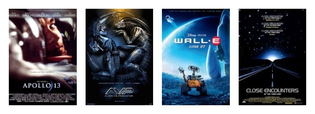 Close Encounters of the Third Kind WALL-E Alien vs. Predator Apollo 13