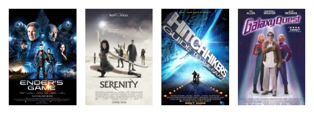 Galaxy Quest The Hitchhiker's Guide to the Galaxy Serenity Ender's Game