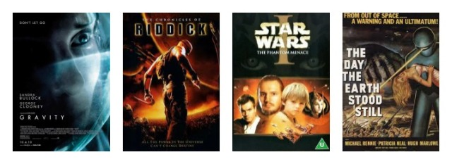 The Day the Earth Stood Still Star Wars Episode I: The Phantom Menace The Chronicles of Riddick series Gravity