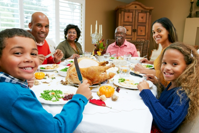 Does anyone's Thanksgiving actually look like this? Via Shutterstock.com