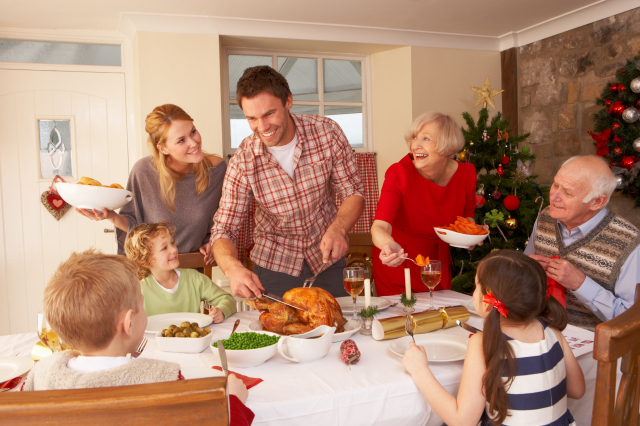 "For instance, you'll learn they all giggle uncontrollably at the thought of ""carving the roast.""  Via oliveromg/Shutterstock."