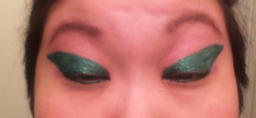 It will look like so much eyeliner and it may look a little weird when you stretch your eyelids, but trust me, OK?