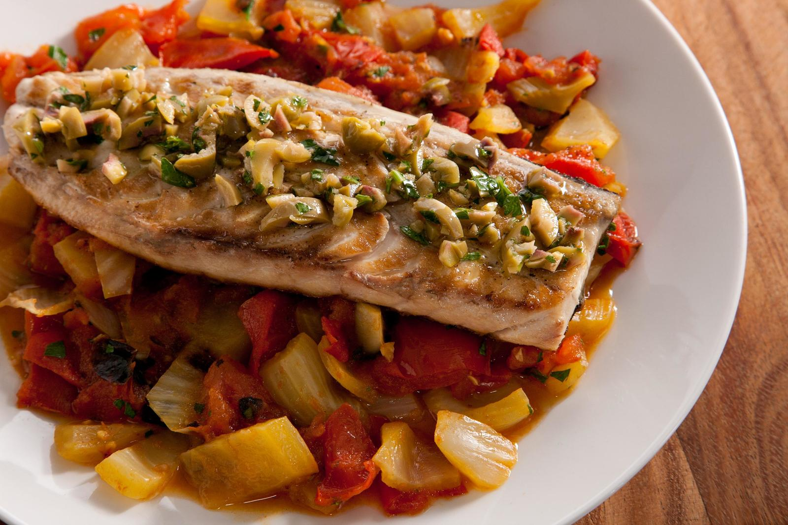 15. Grilled Mackerel with Tomato, Fennel and Capers