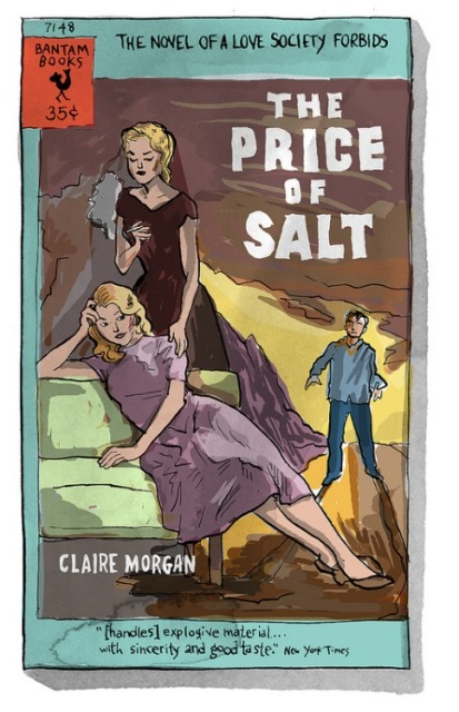 Alison Bechdel's recreation of The Price of Salt's vintage cover