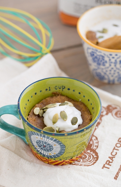 Sweet potato mug cake