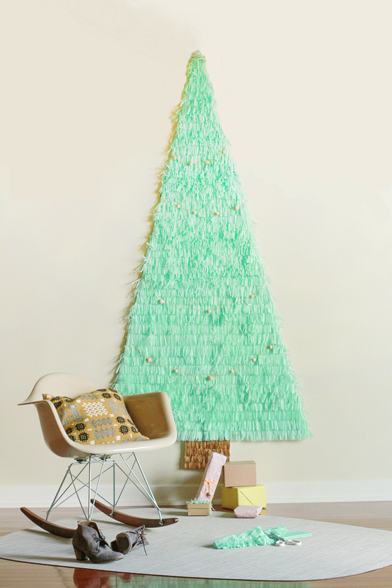 Christmas Tree Drawing On Wall : Epic holigay grab bag diy projects recipes and