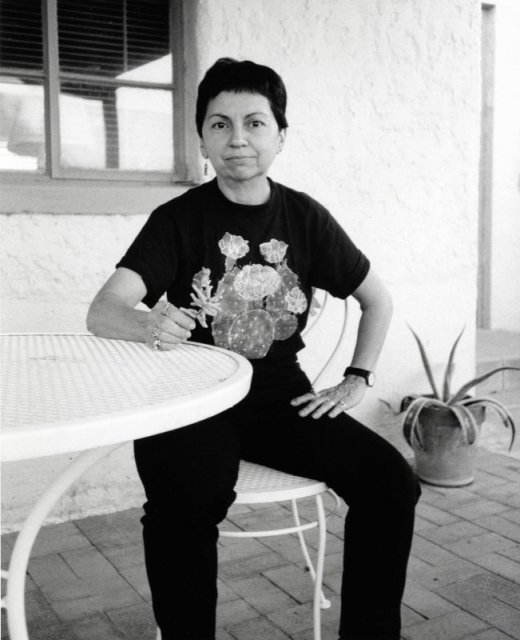 Gloria Anzaldúa. Photo by Alison Hawthorne Deming, October 23, 1991. Via University of Arizona.