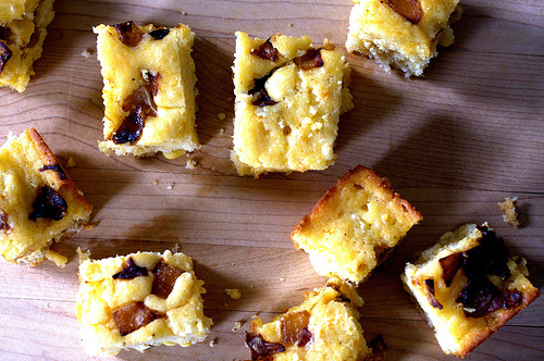 29. Caramelized Onion and Goat Cheese Cornbread