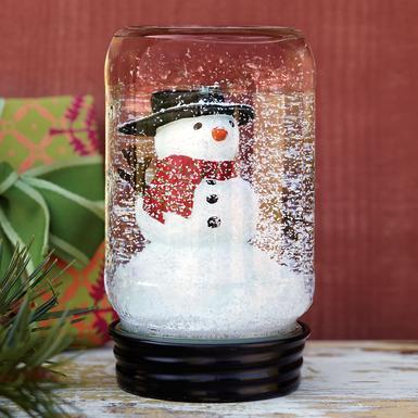 mason jar snowglobe 1