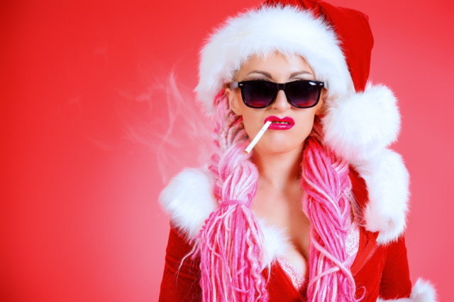 Bad female santa via Shutterstock