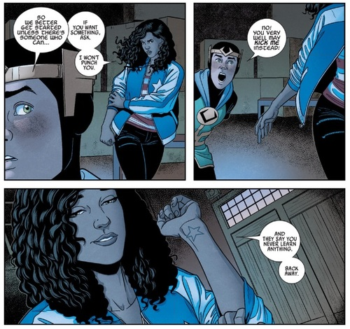 Miss America Chavez being awesome. art by Jamie McKelvie