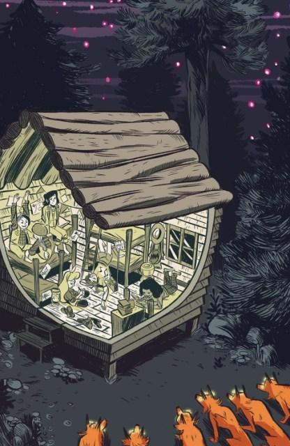 Lumberjanes #10 cover by Carolyn Nowak
