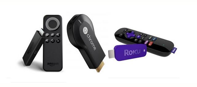 Amazon Fire Stick, Chromecast, Roku