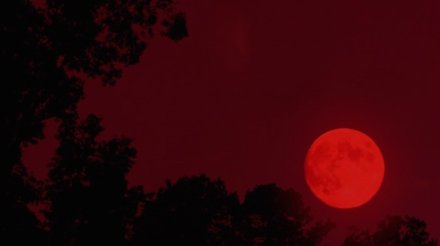 Someone on the Salem film crew sticks a red filter over a lens to signify The End of the Muggle World