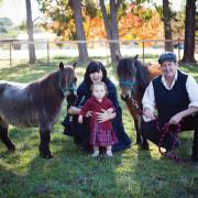 Palandec, Johnson, and Rubyrose on their farm