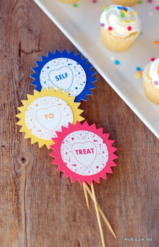 Treat-Yo-Self-cupcake-toppers-get-the-printable-on-NoBiggie.net_
