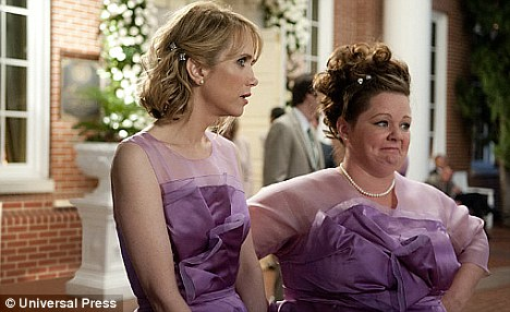 Wiig and McCarthey in Bridesmaids copyright Universal Press