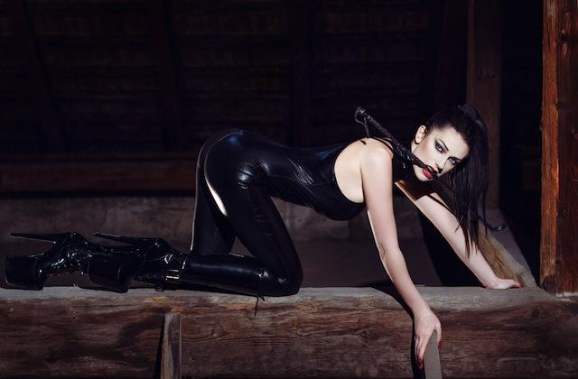 Kristen Stewart on a dark night
