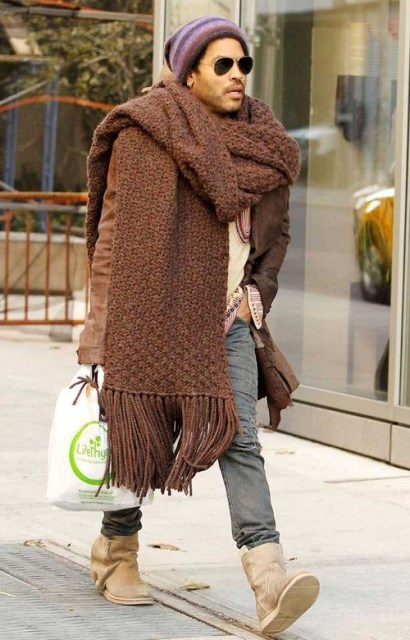 lenny in the best scarf from we heart it