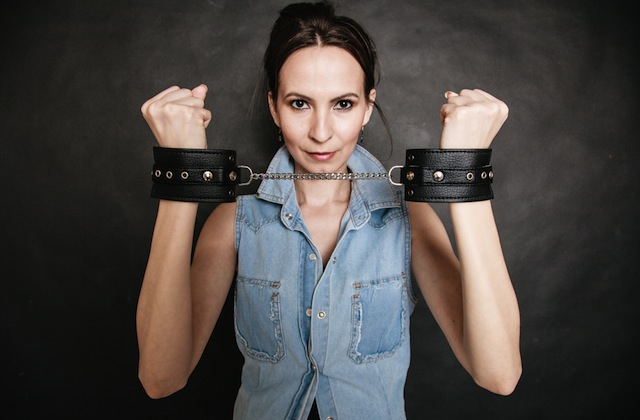 if i don't hold my hands up like this these cuffs fall off