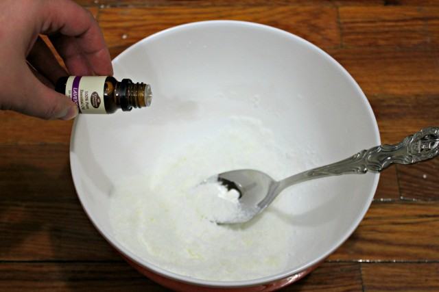 bath bombs add lavender oil