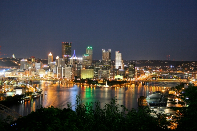The Pittsburgh skyline via Wikipedia