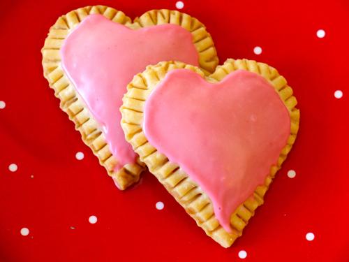 10. Raspberry Cream Cheese Heart Tarts