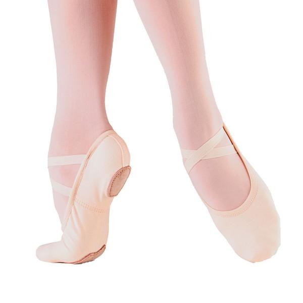 So Danca Adult Canvas Split-Sole Ballet slipper. $17.99 on Amazon